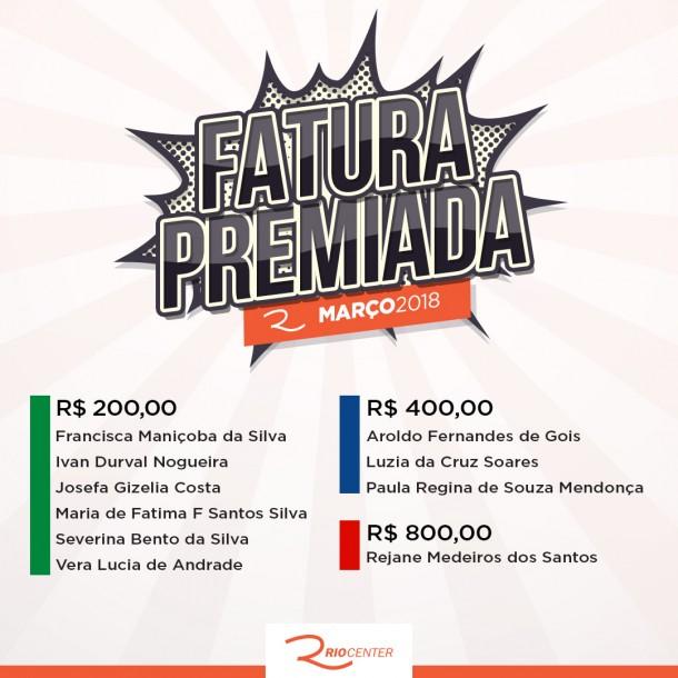 Fatura Premiada Rio Center Março