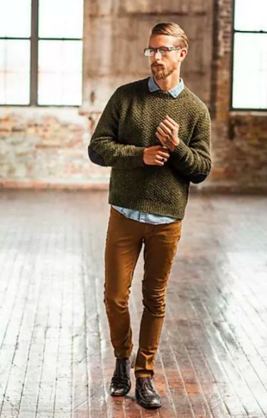 tons terrosos moda masculina